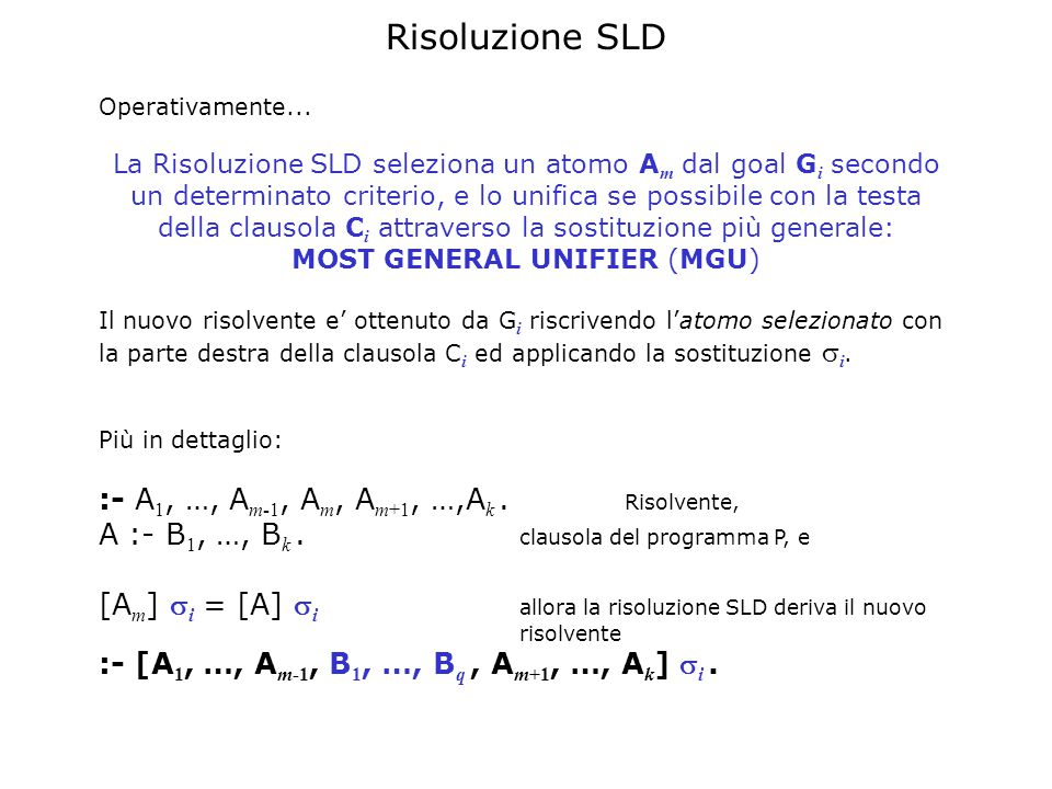 Risoluzione SLD Operativamente...