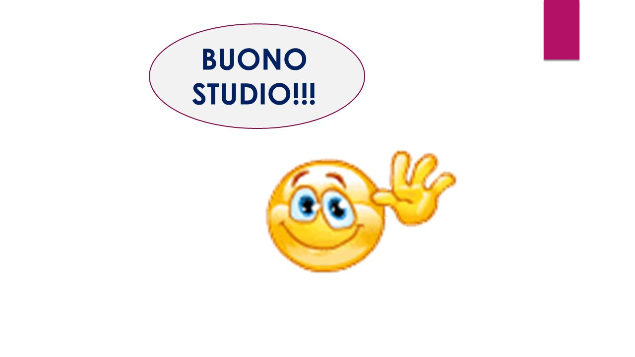 BUONO STUDIO!!!