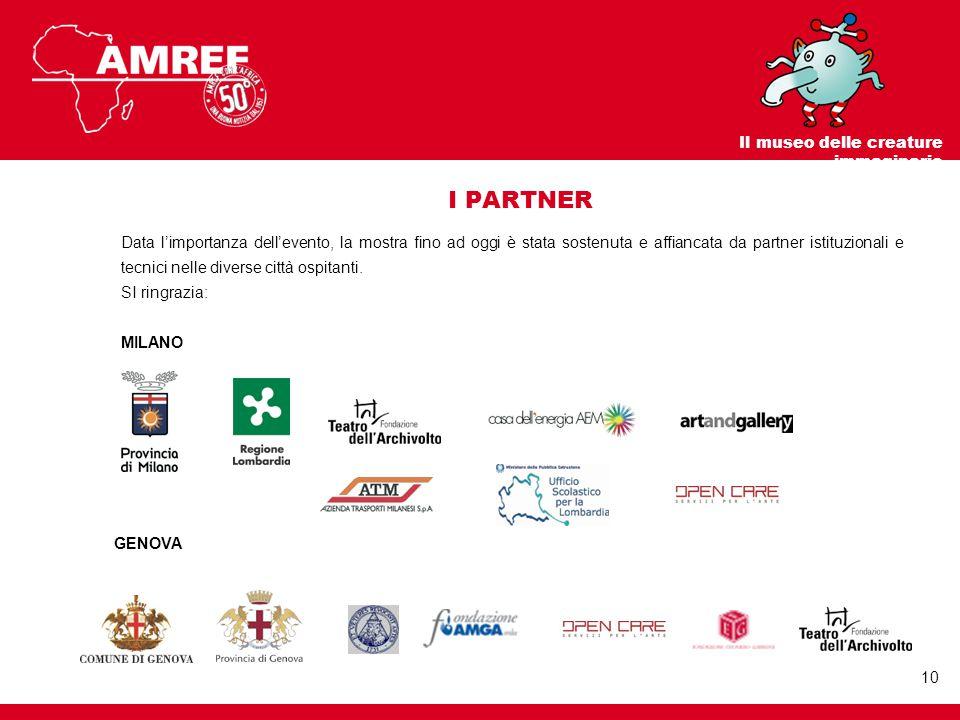 I PARTNER Data l'importanza dell'evento, la mostra fino ad oggi è stata sostenuta e affiancata da partner istituzionali e tecnici nelle diverse città