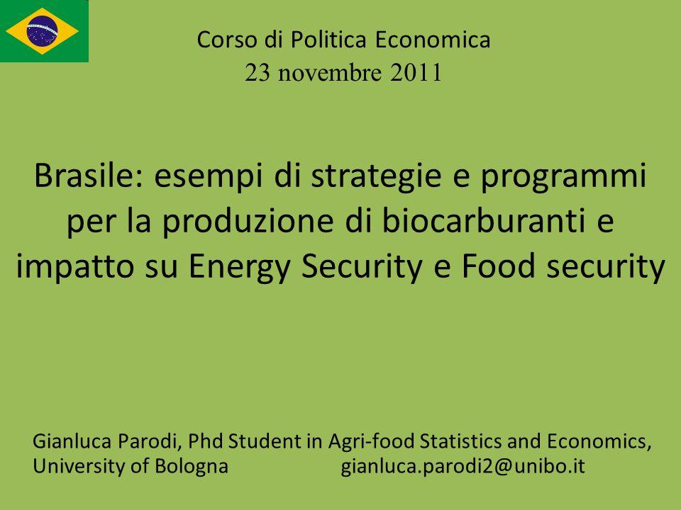 Gianluca Parodi, Phd Student in Agri-food Statistics and Economics, University of Bologna gianluca.parodi2@unibo.it Corso di Politica Economica 23 nov