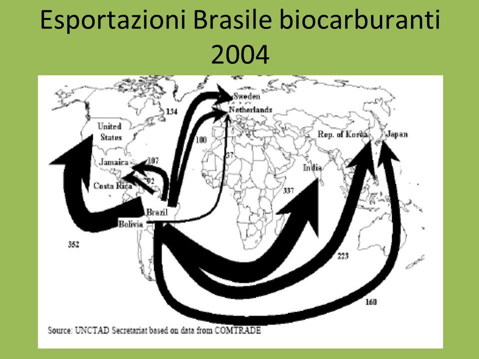 Esportazioni Brasile biocarburanti 2004