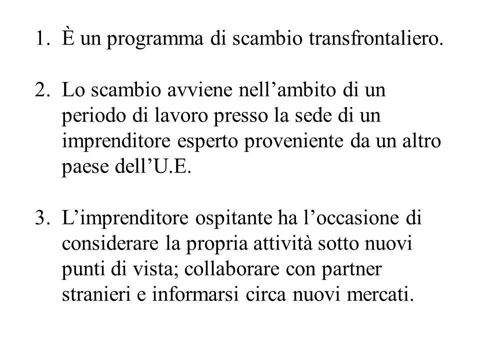 1.È un programma di scambio transfrontaliero.