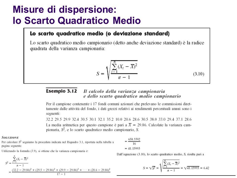 38 Misure di dispersione: lo Scarto Quadratico Medio
