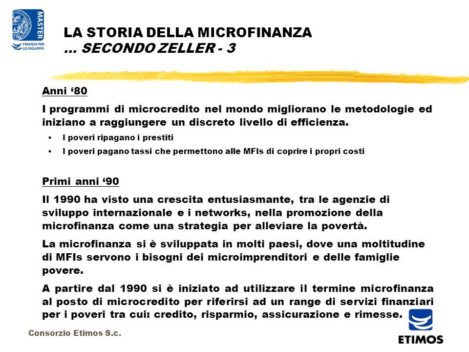 Consorzio Etimos S.c.5)Microfinanza è costruire istituzioni locali finanziarie permanenti.