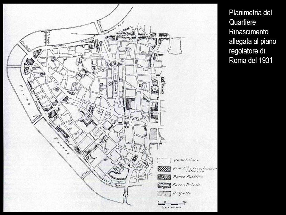 Planimetria del Quartiere Rinascimento allegata al piano regolatore di Roma del 1931