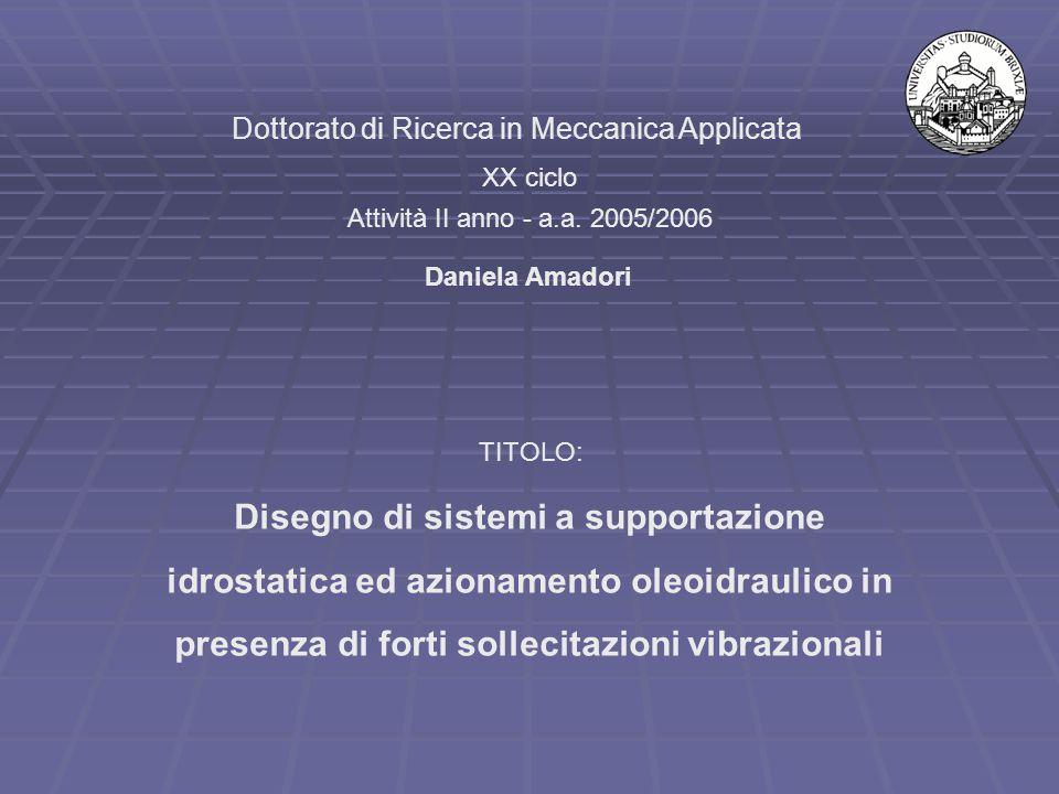 Dottorato di Ricerca in Meccanica Applicata XX ciclo Attività II anno - a.a.