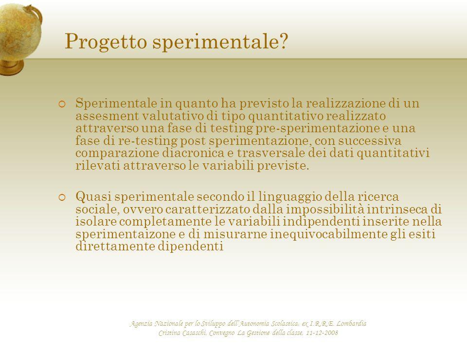 Agenzia Nazionale per lo Sviluppo dell'Autonomia Scolastica, ex I.R.R.E. Lombardia Cristina Casaschi, Convegno La Gestione della classe, 11-12-2008 Pr