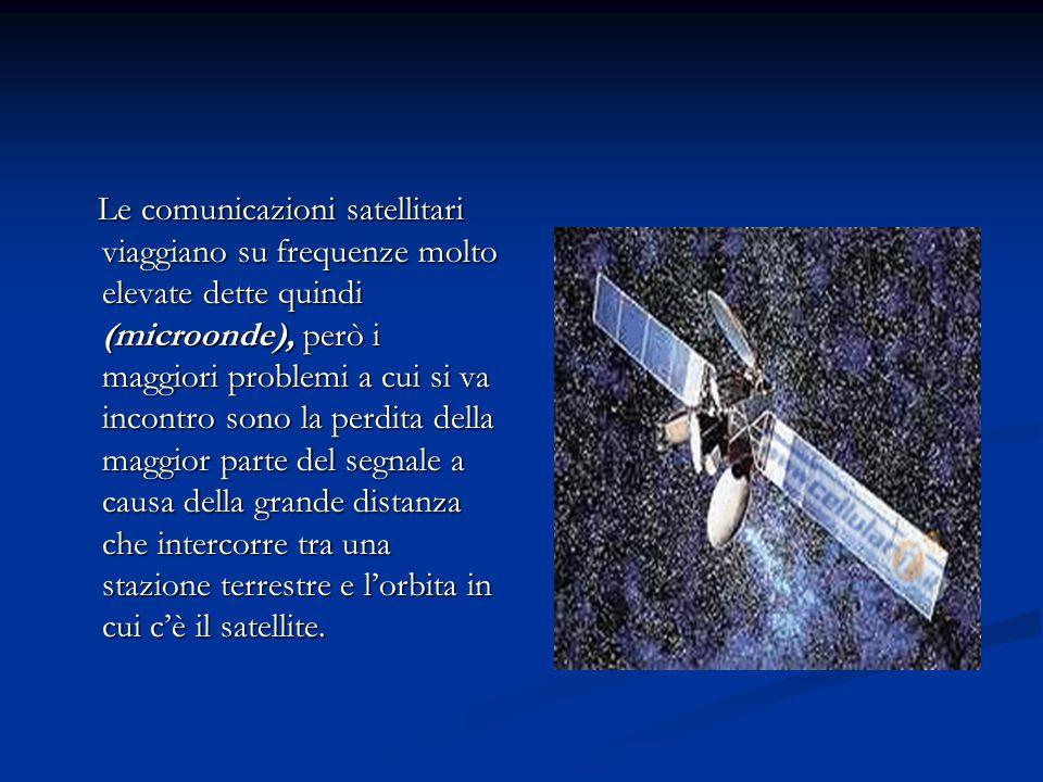 Le comunicazioni satellitari viaggiano su frequenze molto elevate dette quindi (microonde), però i maggiori problemi a cui si va incontro sono la perd