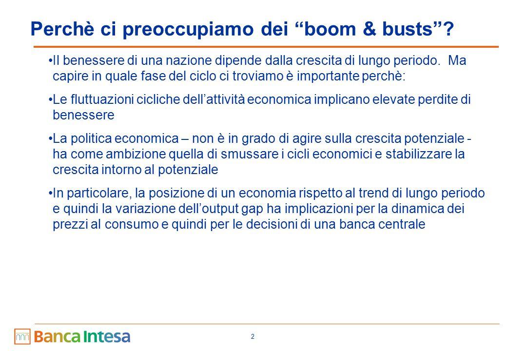 """2 Perchè ci preoccupiamo dei """"boom & busts""""? Il benessere di una nazione dipende dalla crescita di lungo periodo. Ma capire in quale fase del ciclo ci"""