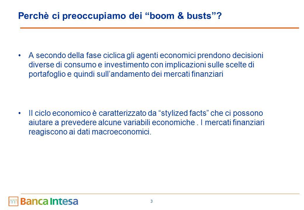 4 Cosa possiamo capire dallo studio del ciclo Lo studio dei cicli economici ci aiuta a capire le interconnessioni tra variabili macroeconomiche, come si trasmette la politica economica e quindi come la stessa deve essere condotta.
