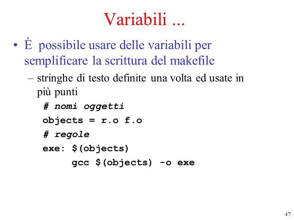 47 Variabili...