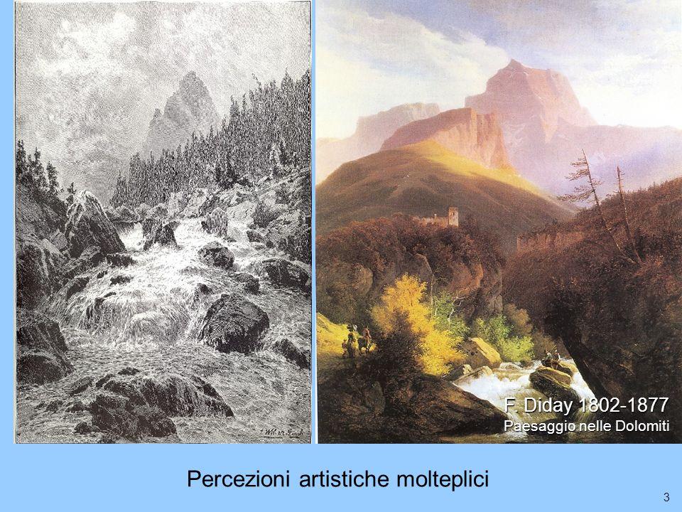 3 F. Diday 1802-1877 Paesaggio nelle Dolomiti Percezioni artistiche molteplici