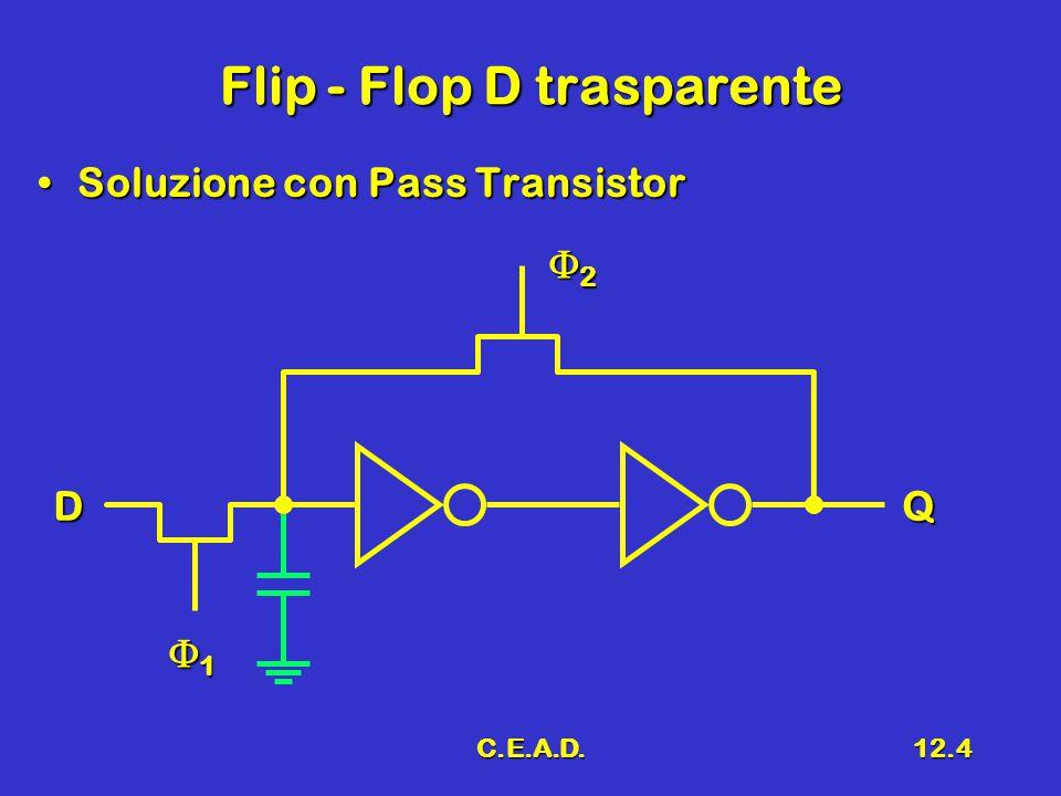 C.E.A.D.12.4 Flip - Flop D trasparente Soluzione con Pass TransistorSoluzione con Pass Transistor DQ 1111 2222