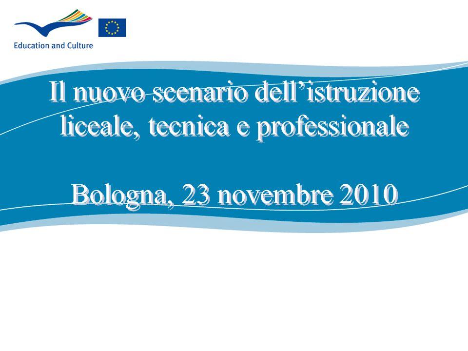 ecdc.europa.eu Il nuovo scenario dell'istruzione liceale, tecnica e professionale Bologna, 23 novembre 2010