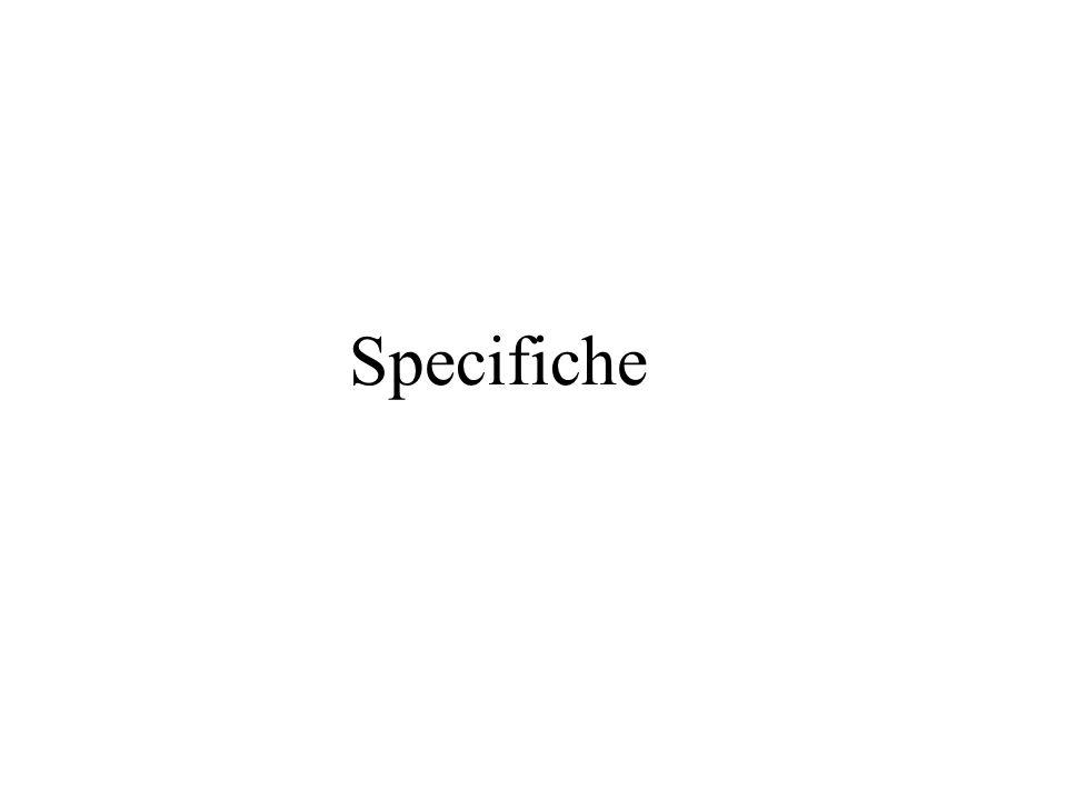 Scopo e significato delle specifiche (1) Lo scopo di una specifica è di definire il comportamento di un ' astrazione.