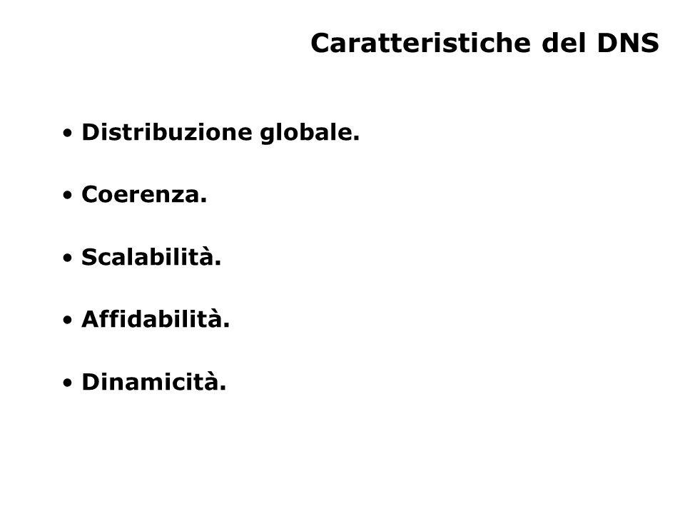 Distribuzione globale I dati vengono gestiti localmente ma sono recuperabili globalmente.