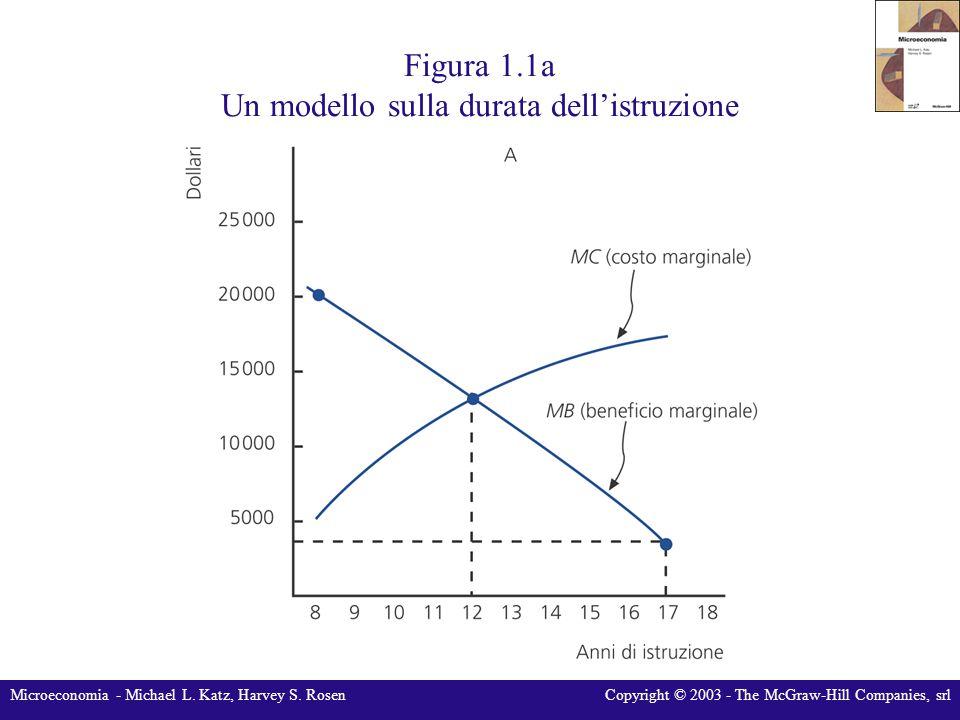 Microeconomia - Michael L. Katz, Harvey S. RosenCopyright © 2003 - The McGraw-Hill Companies, srl Figura 1.1a Un modello sulla durata dell'istruzione