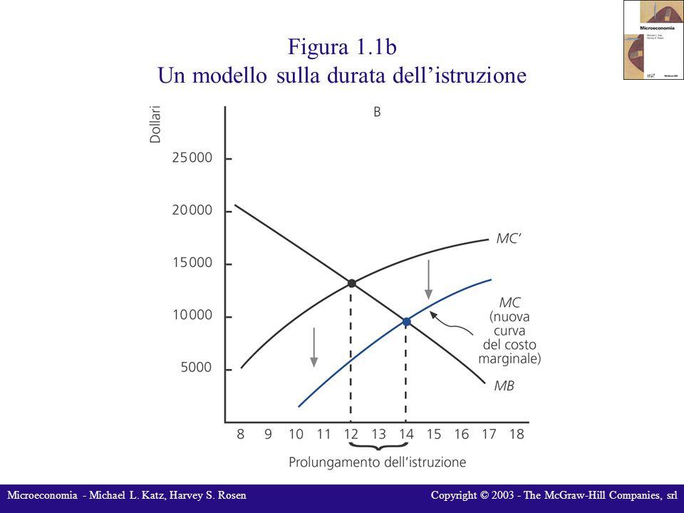 Microeconomia - Michael L. Katz, Harvey S. RosenCopyright © 2003 - The McGraw-Hill Companies, srl Figura 1.1b Un modello sulla durata dell'istruzione