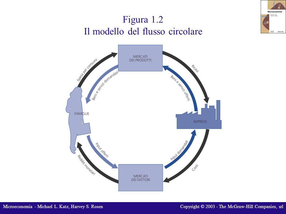 Microeconomia - Michael L. Katz, Harvey S. RosenCopyright © 2003 - The McGraw-Hill Companies, srl Figura 1.2 Il modello del flusso circolare