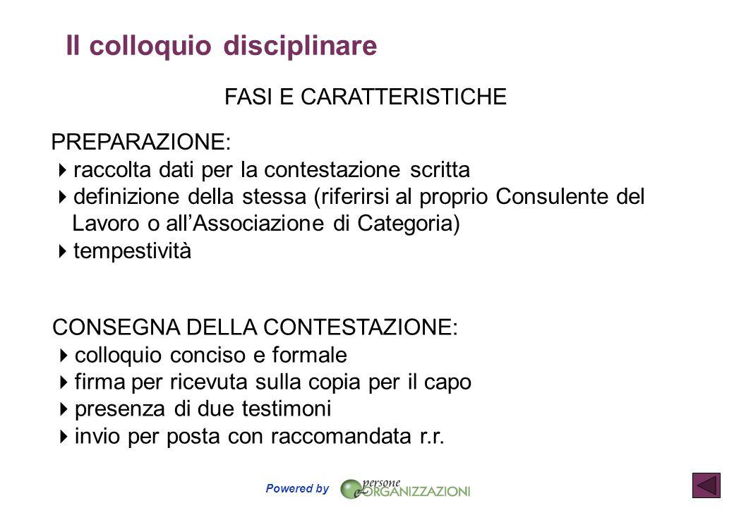 Powered by FASI E CARATTERISTICHE PREPARAZIONE:  raccolta dati per la contestazione scritta  definizione della stessa (riferirsi al proprio Consulen