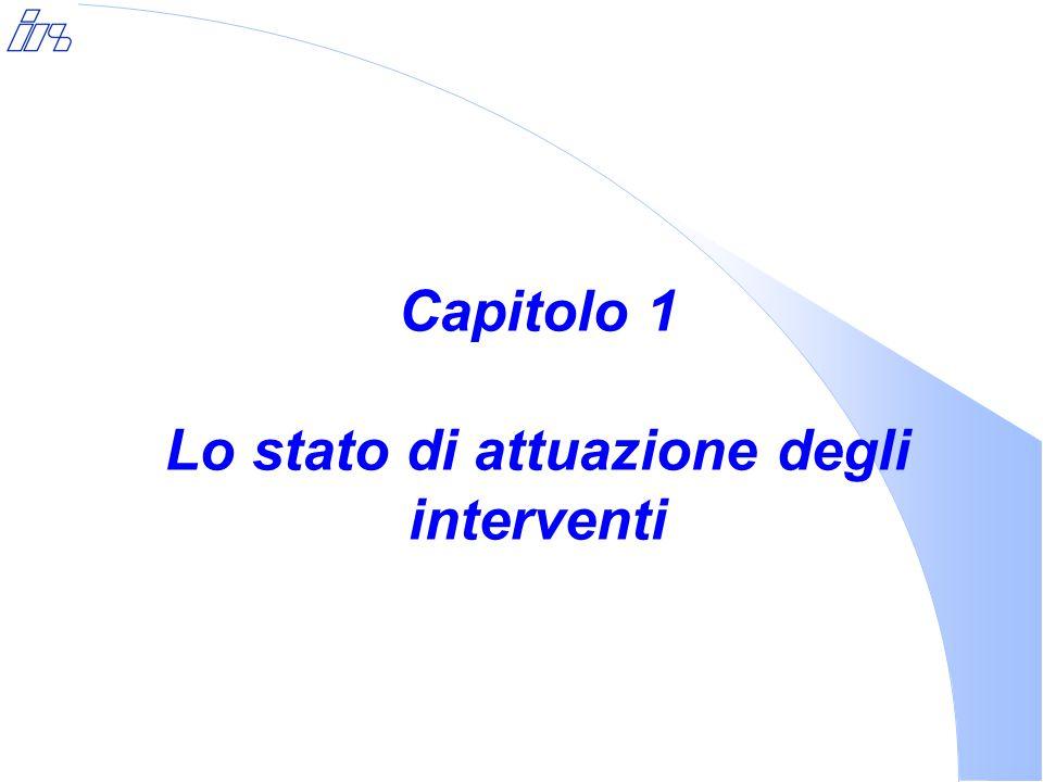 Capitolo 1 Lo stato di attuazione degli interventi