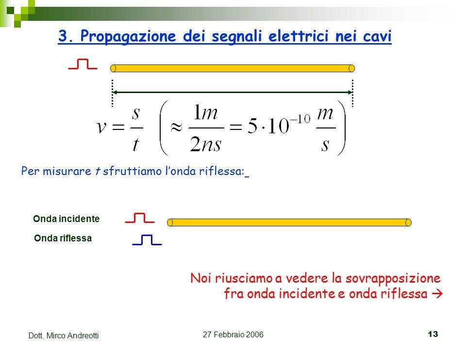 27 Febbraio 200613 Dott. Mirco Andreotti 3.