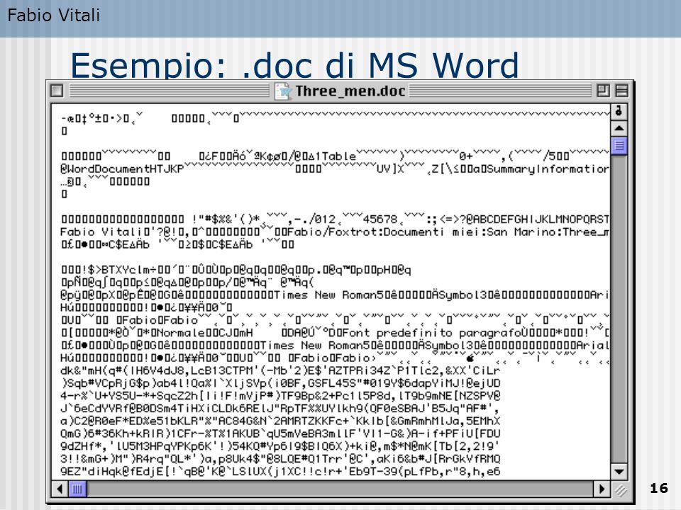 Fabio Vitali 16 Esempio:.doc di MS Word
