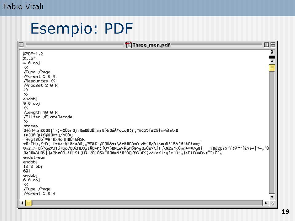 Fabio Vitali 19 Esempio: PDF