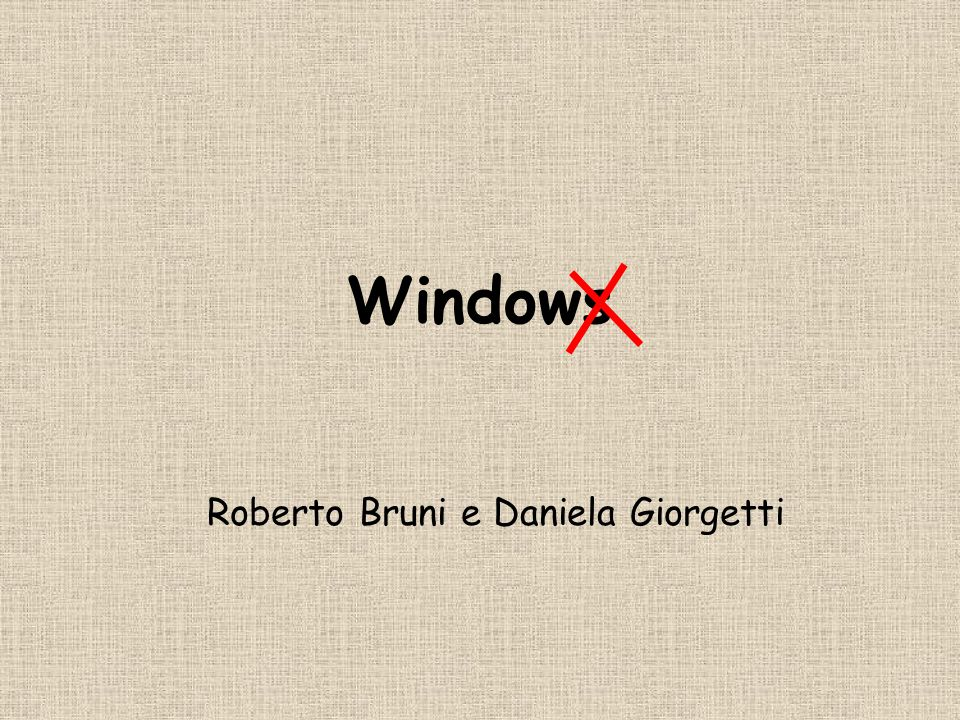Windows Roberto Bruni e Daniela Giorgetti