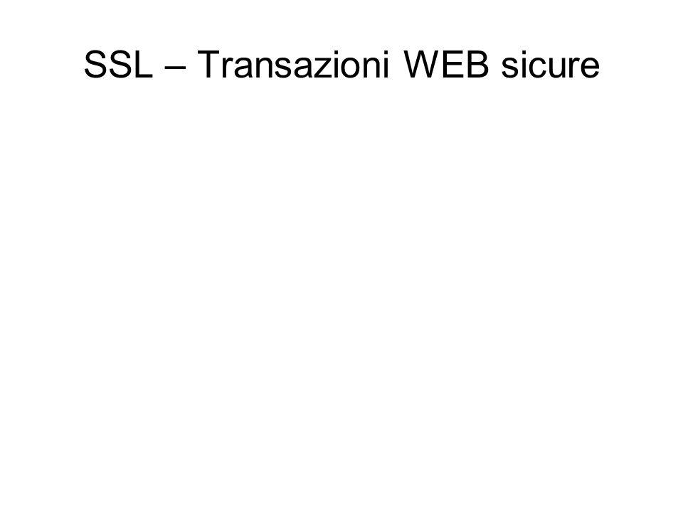 SSL – Transazioni WEB sicure