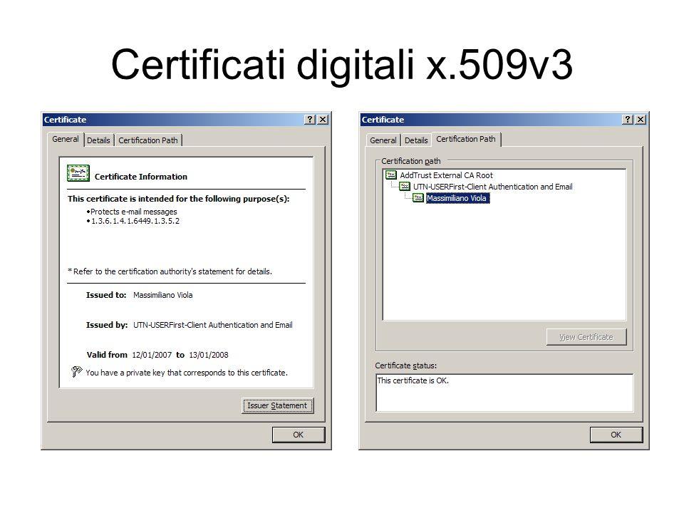 Certificati digitali x.509v3