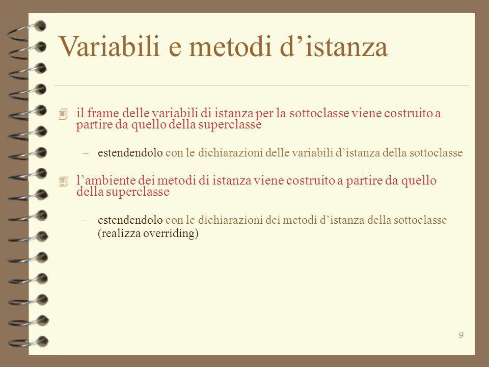 20 Espressioni Expr := new Id | (creazione di istanza) Path Id (accesso al valore di una variabile) Path := Id.