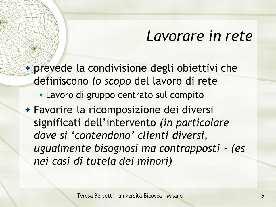 Teresa Bertotti - università Bicocca - Milano7 Lo schema dei tasselli (da uno spunto di Gino Mazzoli - studio APS Milano) A C B