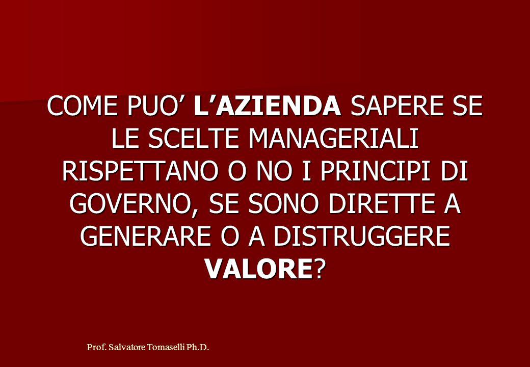Prof.Salvatore Tomaselli Ph.D. L'ATTIVO COMPRENDE: CREDITI VS.