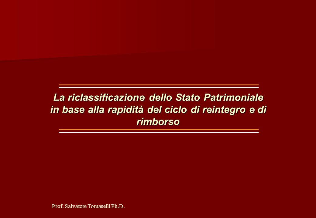 Prof. Salvatore Tomaselli Ph.D. RISULTATO PRIMA DELLE IMPOSTE - IMPOSTE SUL REDDITO = UTILE O PERDITA D'ESERCIZIO