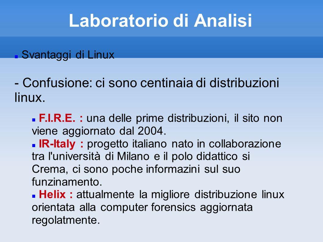 Laboratorio di Analisi Svantaggi di Linux - Confusione: ci sono centinaia di distribuzioni linux.
