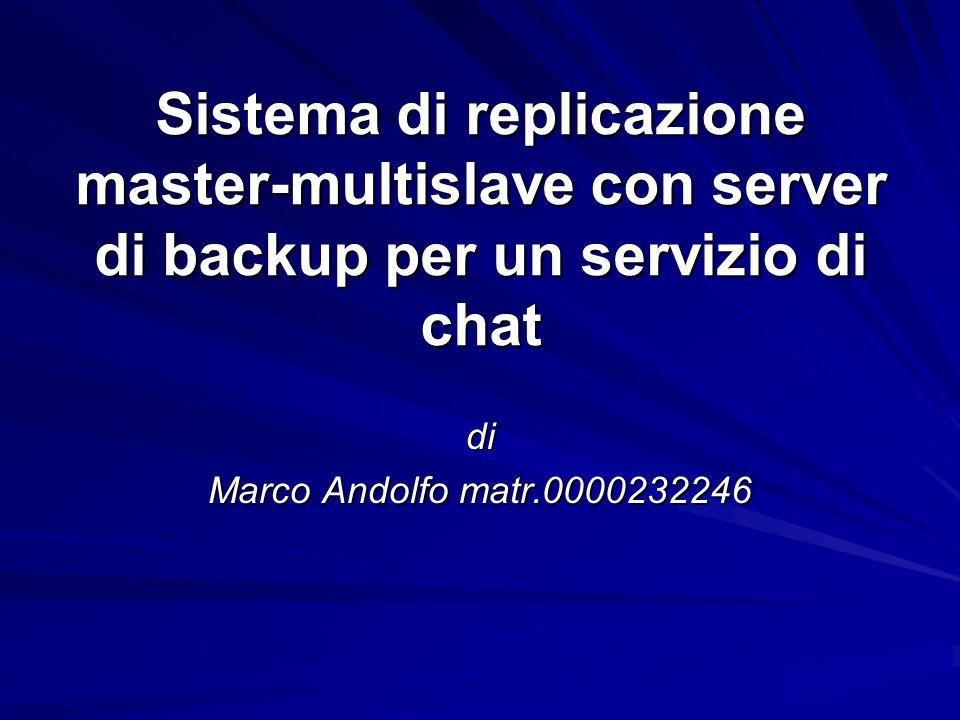 Sistema di replicazione master-multislave con server di backup per un servizio di chat di Marco Andolfo matr.0000232246