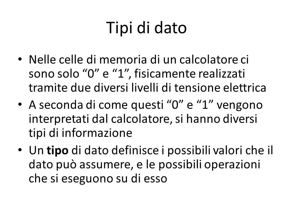 Classificazione dei tipi (1) Tipi semplici vs.