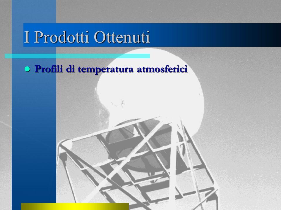 I Prodotti Ottenuti Profili di temperatura atmosferici Profili di temperatura atmosferici