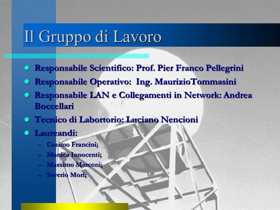 Il Gruppo di Lavoro Responsabile Scientifico: Prof.