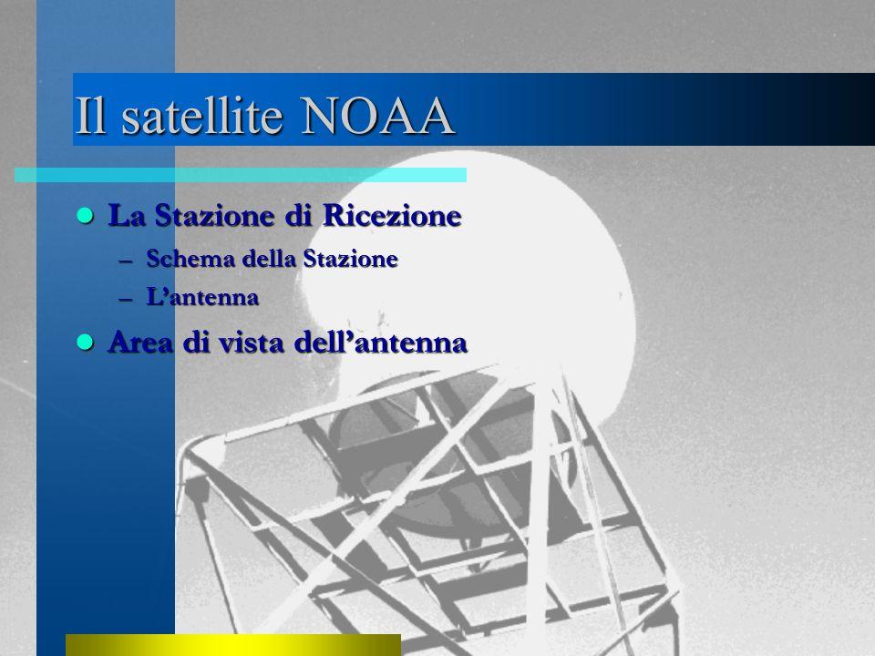 Il satellite NOAA La Stazione di Ricezione La Stazione di Ricezione –Schema della Stazione –L'antenna Area di vista dell'antenna Area di vista dell'antenna