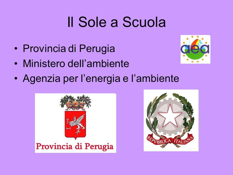 Il Sole a Scuola Provincia di Perugia Ministero dell'ambiente Agenzia per l'energia e l'ambiente