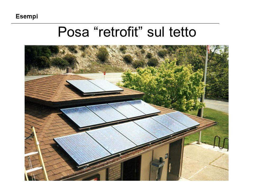 """Posa """"retrofit"""" sul tetto Esempi"""