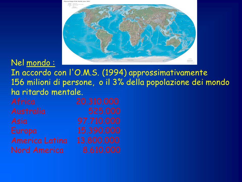 Salute mentale Disabilità persistenti (1,6-2%; n=17.320) Disturbi psicopatol.e/o neuropsicol.