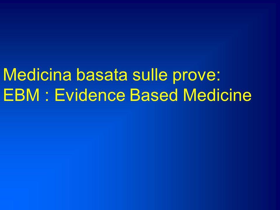 Dobbiamo superare il principio della autoreferenzialità e cercare di applicare criteri clinici o valutazioni diagnostiche o terapie in base alle evidenze, quando esistono.