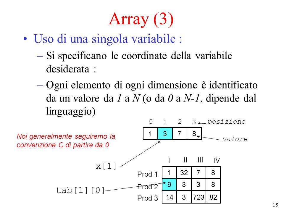 16 Usiamo gli array...