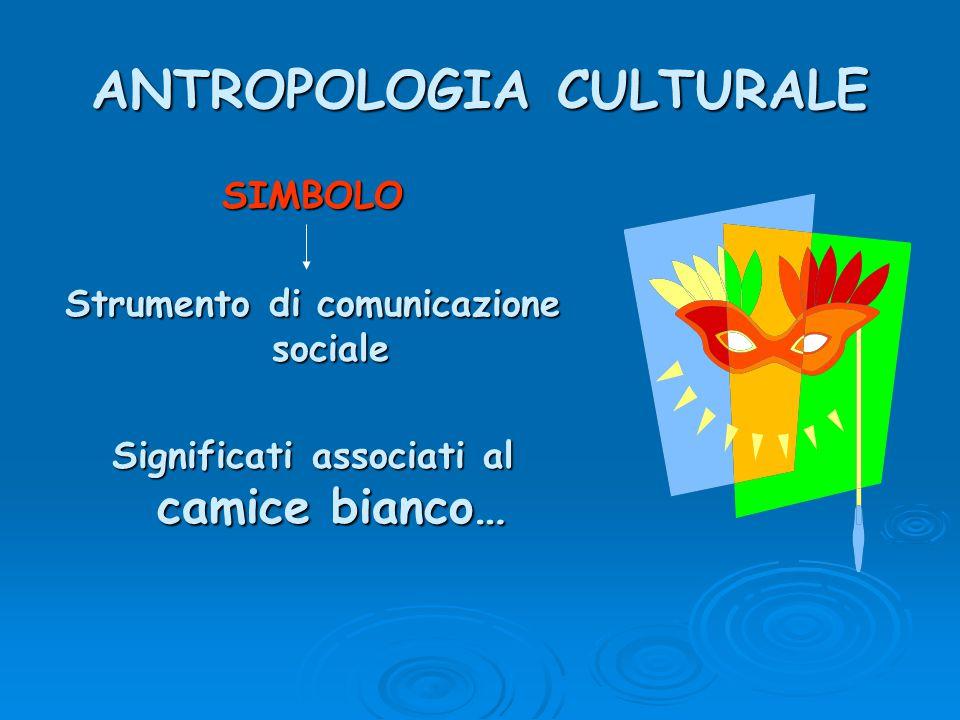 ANTROPOLOGIA CULTURALE SIMBOLO Strumento di comunicazione sociale Significati associati al camice bianco…