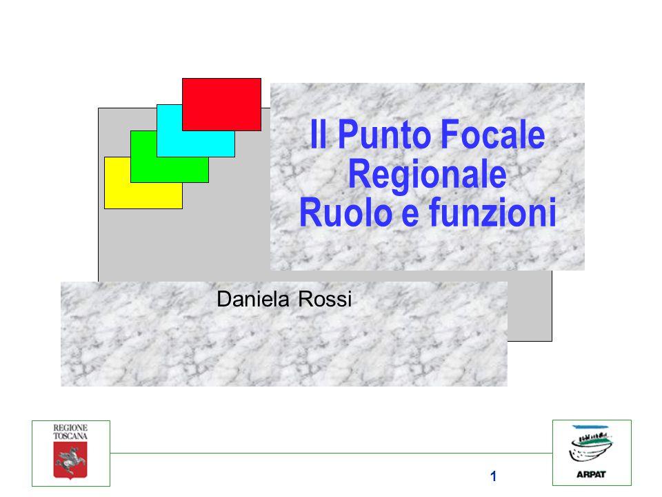 1 Il Punto Focale Regionale Ruolo e funzioni Daniela Rossi