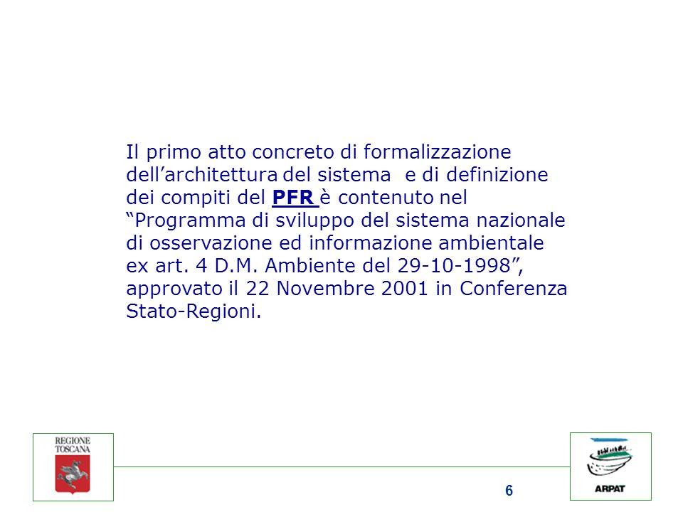 """6 Il primo atto concreto di formalizzazione dell'architettura del sistema e di definizione dei compiti del PFR è contenuto nel """"Programma di sviluppo"""