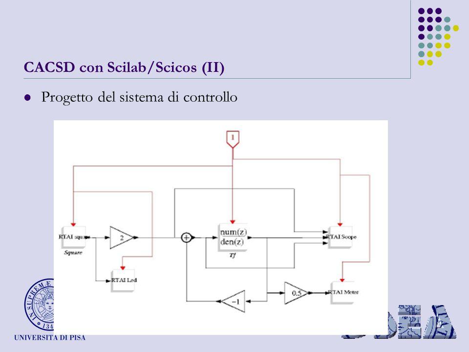 CACSD con Scilab/Scicos (II) Progetto del sistema di controllo